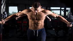 تجهیزات بدنسازی young bodybuilder using fitness equipment 256